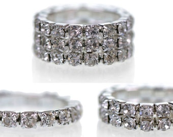 Gorgeous Diamante Ring Jewelry in a Variety of Sizes