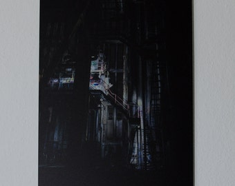 Abandoned Place, Industrial Building – Printed on brushed aluminium, 60 x 40 cm
