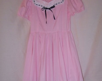 Square Dance Dress Vintage Country Western Swing Full Skirt Handmade