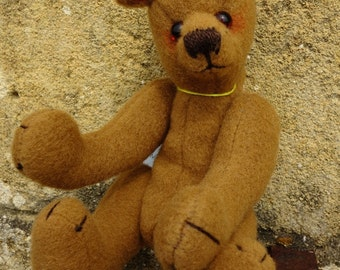 Artist Designed Teddy Bear, Artist Teddy Bear, Collectable Teddy Bear, FeltTeddy Bear, Traditional Teddy Bear, Handmade Teddy Bear