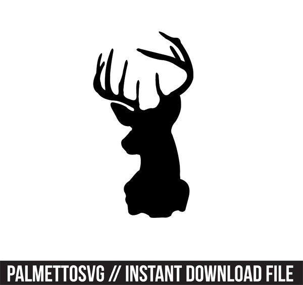 deer head decal silhouette svg dxf file instant download ...