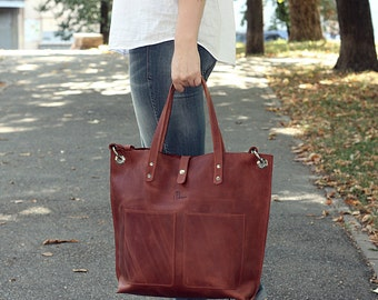 Free shipping!  Handmade leather tote bag, Leather tote, Leather laptop bag, leather tote bag, Leather handbag, leather handbag woman