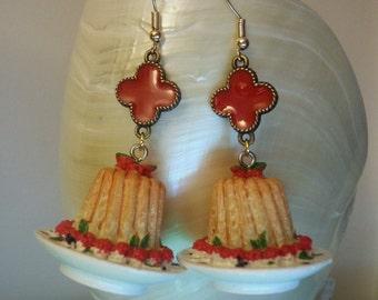 """Earrings """"Charlotte"""" Cake strawberry charlotte"""