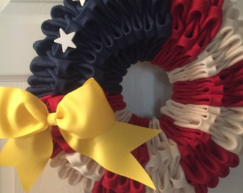 Red, white and blue wreath