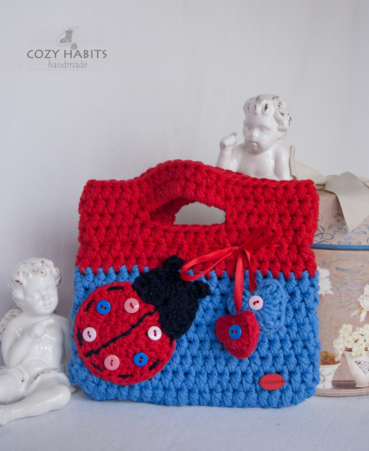 Toddler Crochet Purse Pattern : Lady Bug Girls Purse Toddler Girls Crochet Purse Crochet