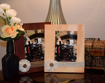 Wooden block frame