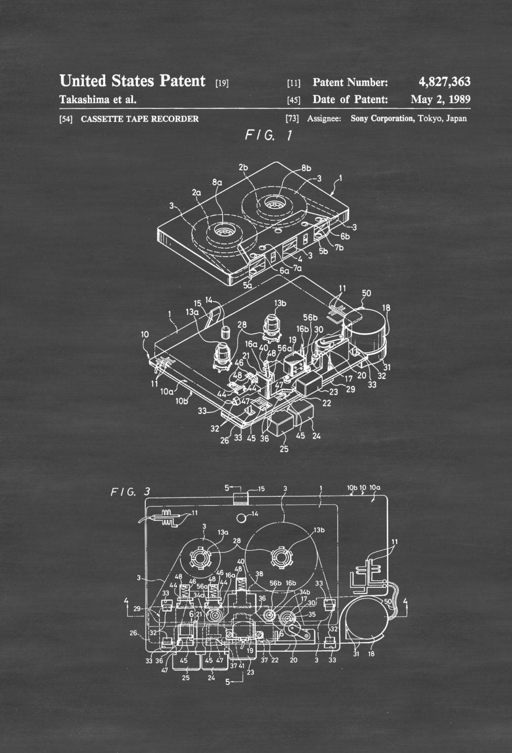sony walkman patent patent print wall decor audio 🔎zoom