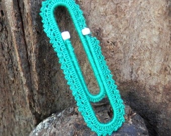 Handmade crochet paper clip bookmark - Paperclip bookmark / Bookworm, Book, Crochet gifts /