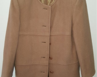Wool Coat-Mid Length- Camel