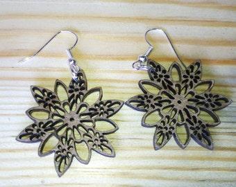 Earrings Celtic flower