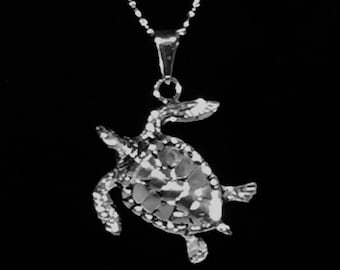 Sea Turtle pendant with chain