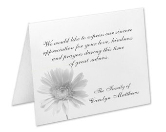 Personalized Sympathy Acknowledgement & Funeral Note Cards | The Enchanted Envelope