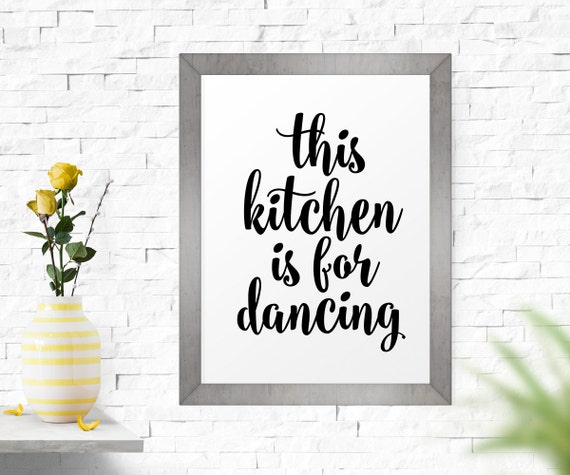 Kitchen Inspirational Quotes: Motivational Print Printable Art This Kitchen Is For