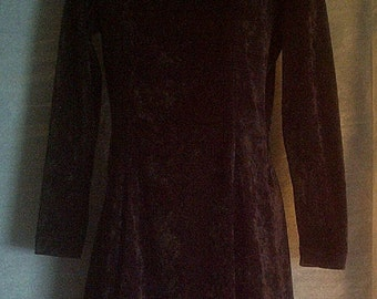 Dress, Black and Velvety