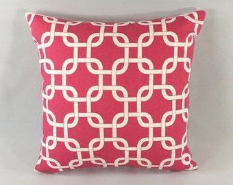 Pink Chain-link Pillow Cover - Candy Pink Gotcha Print - Decorative Throw Pillow Cover - Accent Pillow - Premier Prints - Hidden Zipper