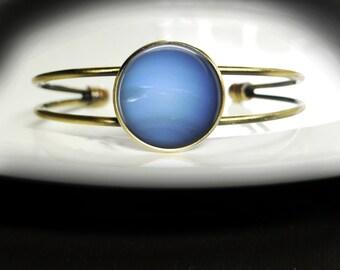 Neptune Bracelet Blue Planet Bangle Bracelet - Blue Planet Jewelry Neptune Bracelet - Solar System Bracelet Bangle Blue Planet Bracelet
