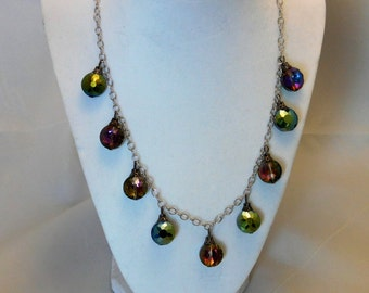 Multi Colored, Multi Faceted Baubles in a beaded necklace set!