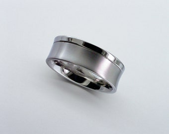 Titanium Band, Titanium Wedding Band, Mens Wedding Band, Personalised Band