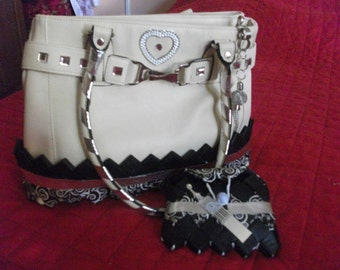 White leather bag customize paper recycle