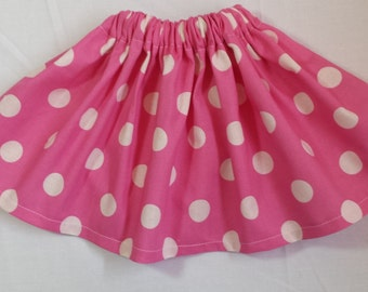 Boutique Light Pink Big Dot Twirl Skirt