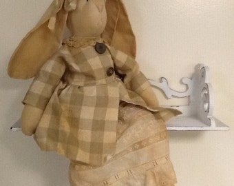 Custom order for Susan Price. Hand made tea stained boy bunny rabbit..