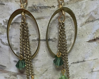 Dreamcatcher Swarovski Crystal Earrings