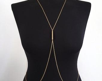 Gold Bar Body Chain
