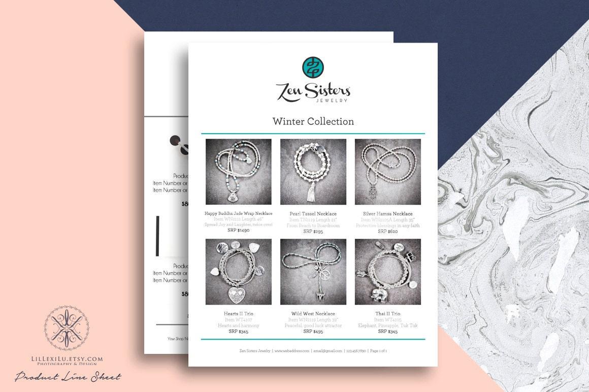 line sheet photoshop template wholesale catalog by lillexilu. Black Bedroom Furniture Sets. Home Design Ideas