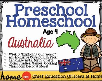 Homeschool Preschool Australia Unit