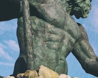 King Neptune Photograph Virginia Beach Boardwalk Image Mythological God Statue Water Ruler Image