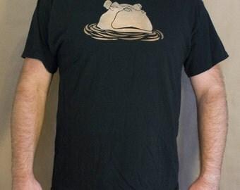Hippo T-Shirt Bleach Design Men's Shirt - original design - hippo design - bleach t-shirt - men's hippo shirt - hippo bleach design