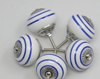 Retro Ceramic Knob /Dresser Knob Drawer Pull Handle / Ceramic Knob / Cabinet Knobs / Kitchen Door Knob Furniture Hardware  (XMHRJ050)