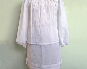 Handmade women blouse and skirt set