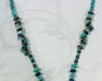 Blue Beaded Thunder Bird Necklace