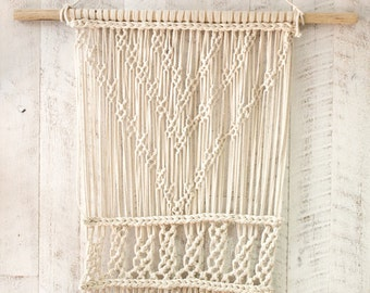 Hand knittted Macreme Wall Hanging