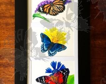 Butterfly Trio Original Drawings