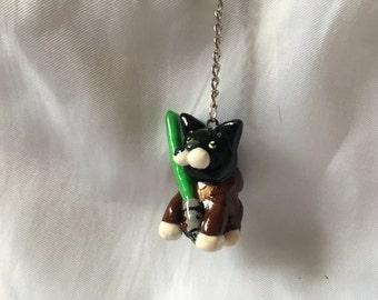 Jedi Tuxedo Cat
