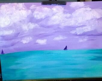 Sea at Sunrise painting
