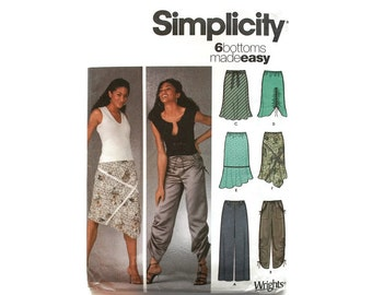 2000 Sewing Pattern - Simplicity 5256 - Pants Skirt