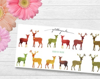 Deer Fawn Autumn Planner Stickers