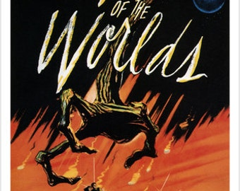 The War Of The Worlds Movie Poster H. G. Wells 1953 24x36 Rare Hot New