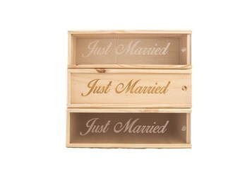 Wooden Wine Box (single) - Just married