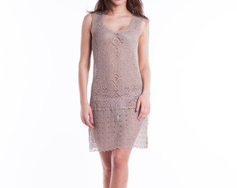 CLEARANCE SALE Handmade knitted beach cover-up dress