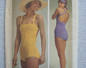 vintage 5659 Simplicity BATHING SUIT crochet pattern