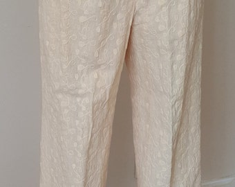 1980's Cream Eyelet Pants