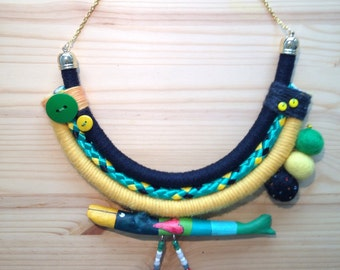 Wool necklace with uccellostecco