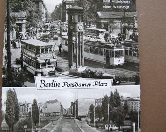 Berlin Potsdamer Platz vintage black and white postcard / Tiergarten-Berlin / Kunst und Bild postcard