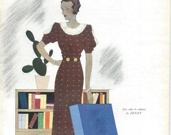 Vintage French Fashion Magazine Modes et Travaux  15 September 1933