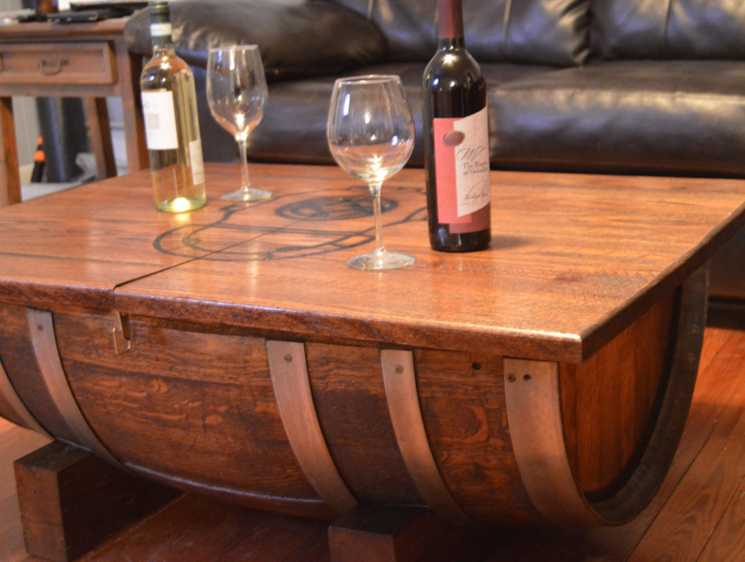 Wine Barrel Coffee Table By Planksdesign On Etsy