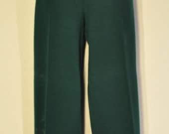 Womens Vintage Dark Green Pants